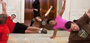 Michelle Obama's FIRST appearance on The Biggest Loser.