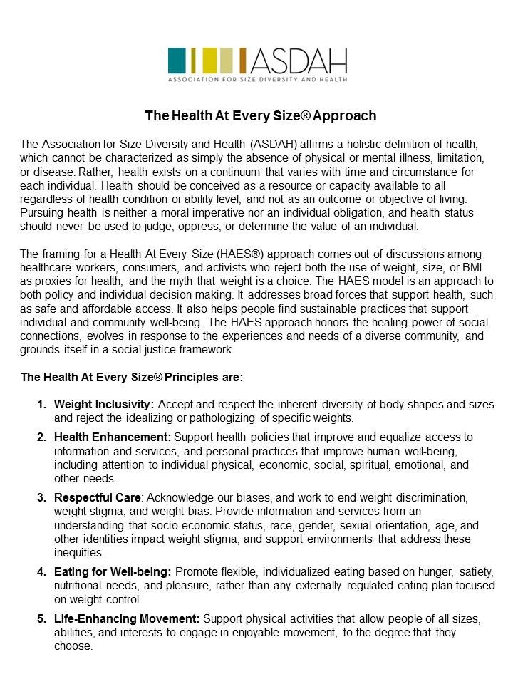 the HAES® files: Revising the HAES Principles