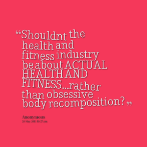 obsessive body recomposition